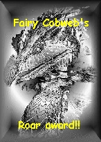 FAIRY COBWEBS ROAR AWARD